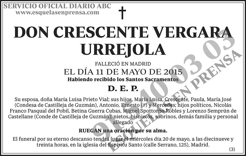 Crescente Vergara Urrejola